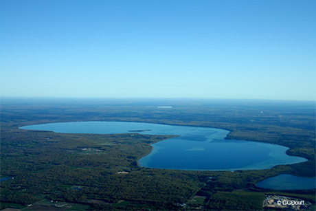 Aerial View of Higgins Lake in the Summer of 2008.