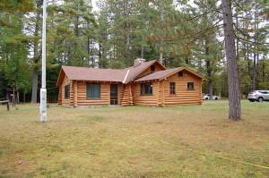 Original Log Home On River